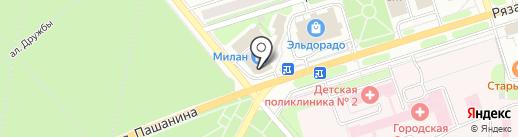 Едим дома на карте Новомосковска