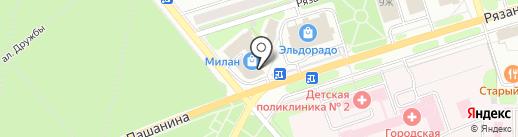 Детки на карте Новомосковска