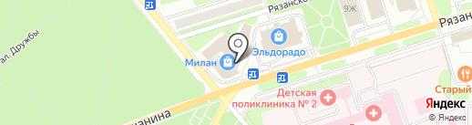 Киндер на карте Новомосковска