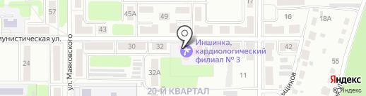 Иншинка на карте Новомосковска