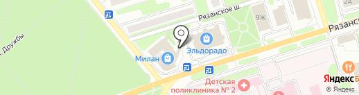 МТС на карте Новомосковска
