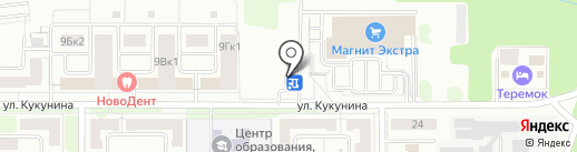 Гараж на карте Новомосковска