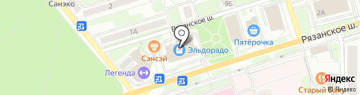Вкуснов на карте Новомосковска
