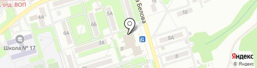 На Залесном на карте Новомосковска