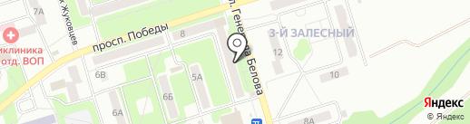 Таис на карте Новомосковска