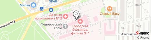 Городская детская больница, МУЗ на карте Новомосковска