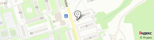 Цветочный магазин на карте Новомосковска