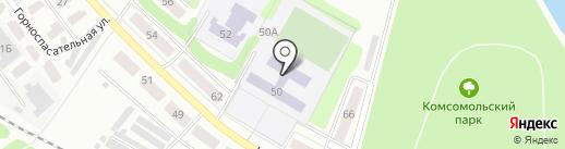 Гимназия №20 на карте Донского
