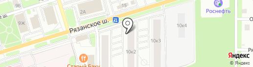 Парковый на карте Новомосковска