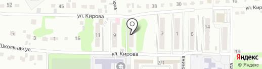 Новоугольный на карте Донского