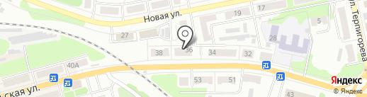 Магазин продуктов на Октябрьской на карте Донского