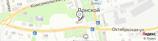 Бытовёнок на карте Донского