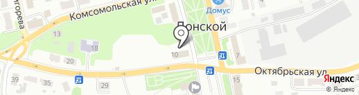 Мегаполис на карте Донского