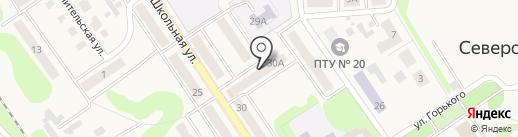 Среднерусский банк Сбербанка России на карте Донского