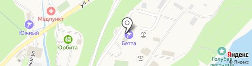 Бетта на карте Геленджика