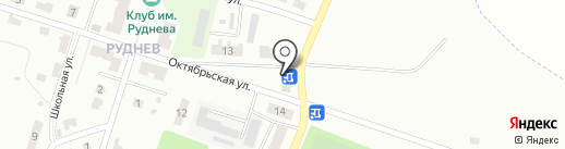 Магазин мяса на Октябрьской на карте Донского