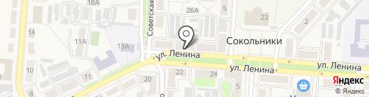 Московская ярмарка на карте Новомосковска