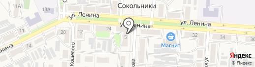 Парикмахерская на карте Новомосковска