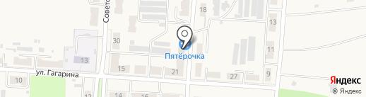 Пятёрочка на карте Новомосковска