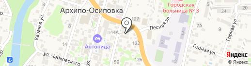 Меркурий на карте Геленджика