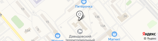 Гуслица на карте Давыдово