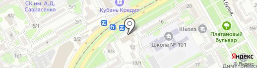 Биржа на карте Краснодара