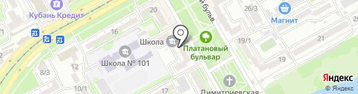 Такт на карте Краснодара