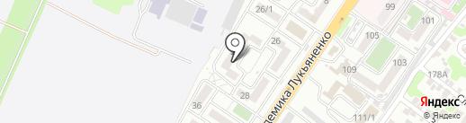 Академический на карте Краснодара