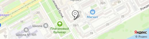Солнечное, ТОО на карте Краснодара