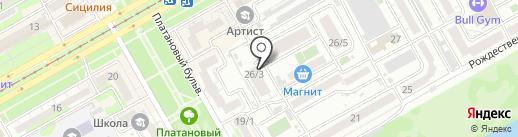 Сова на карте Краснодара