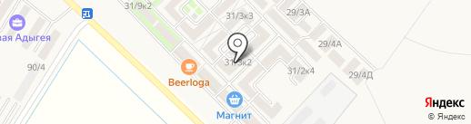 Родной Дом, ЖСК на карте Новой Адыгеи