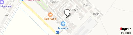 Прокат-батутов.рф на карте Новой Адыгеи