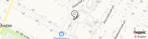 Магазин по продаже выпечки на карте Энема