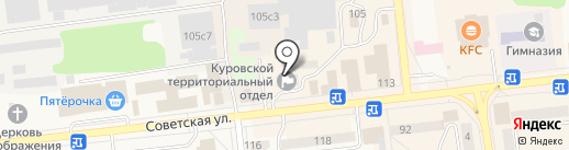 Ирбис на карте Куровского