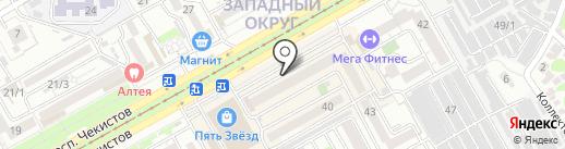Конфетница на карте Краснодара