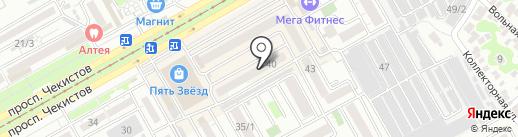 Вертикаль на карте Краснодара