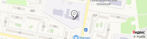 Куровская средняя общеобразовательная школа №6 на карте Куровского