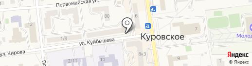 Тарелочка на карте Куровского