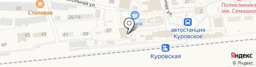 Неринга на карте Куровского
