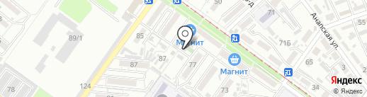Андреевский на карте Краснодара