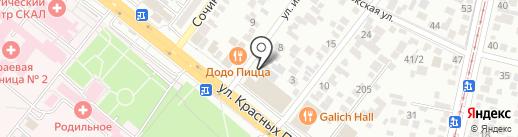 Юг-Линк на карте Краснодара
