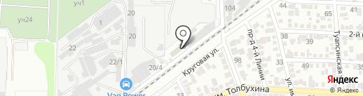 Ивушка на карте Краснодара
