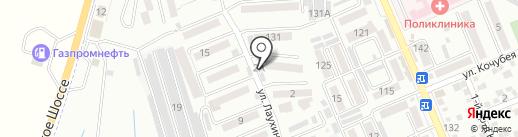 Айшет на карте Яблоновского