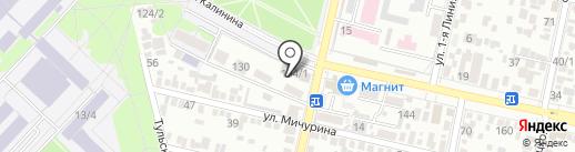 МЯСО & БУЛКИ на карте Краснодара