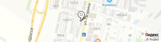 Магазин постельных принадлежностей на карте Яблоновского