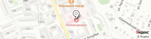 Яблоновская поликлиника на карте Яблоновского