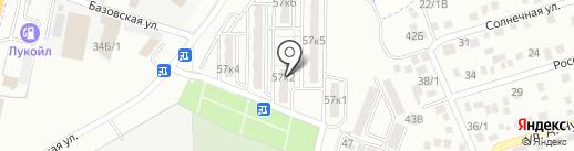 Солнечный на карте Яблоновского