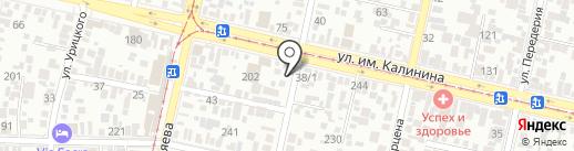 Логинова М.А. на карте Краснодара
