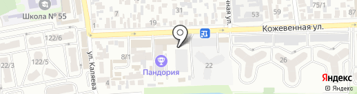 Котофей на карте Краснодара