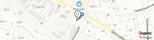 Автомойка самообслуживания на карте Яблоновского